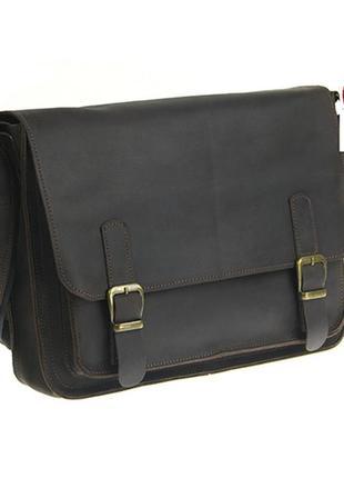Коричневая мужская кожаная сумка для документов кожаная сумка мессенджер