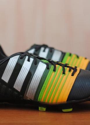 Футбольные бутсы с пластиковыми шипами adidas nitrocharge, адидас. 41 - 42 размер