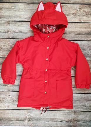 Детская куртка - парка для девочки рр.98-140 beebaby (бибеби)
