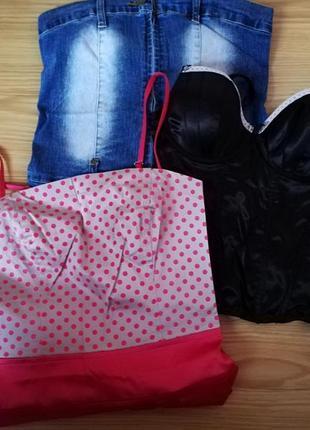 Вещи одежда пакетом платье джинсовое юбка сарафан 36