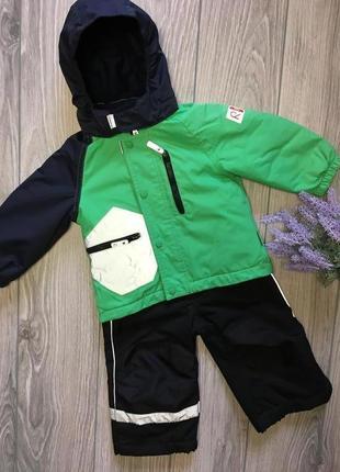 Зимний комплект куртка reima и полукомбинезон h&m рост 80см.