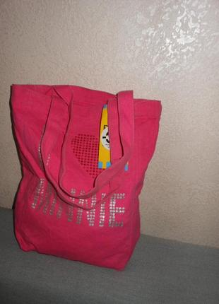 Disney store,сша! розовая сумка новая