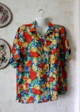 Блуза  шелковая, шелк, винтаж, oscar de la renta, разм.48-50
