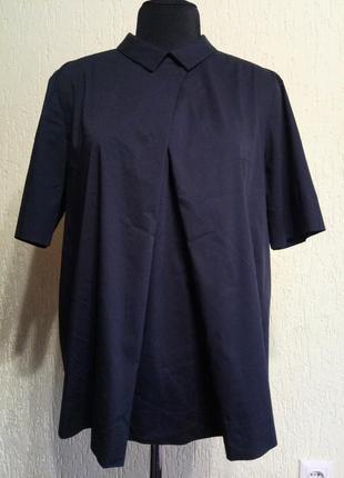 Шикарная натуральная блуза от cos, рубашка премиум качества6 фото