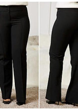 Новые фирменные классические брюки f&f с кожаным декором.