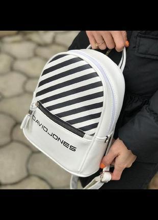 Городской рюкзак в полоску от david jones 5965-4 black