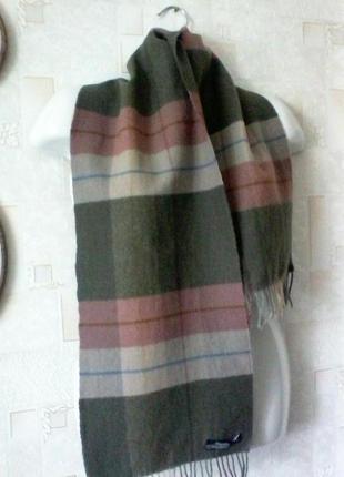 Шерстяной винтажный шарф из восточной германии, 100% шерсть ягненка