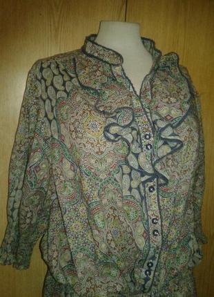 Приятная к телу хлопковая туника -рубашка ,2хl - 4xl.5 фото