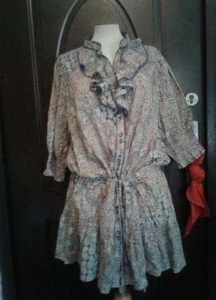 Приятная к телу хлопковая туника -рубашка ,2хl - 4xl.7 фото