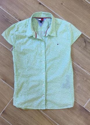 Легкая  мятная рубашка tommy hilfiger xl m