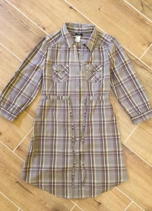 Платье рубашка туника h&m на размер s m
