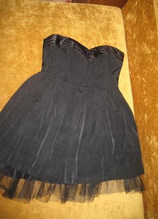 Платье с фатином по низу