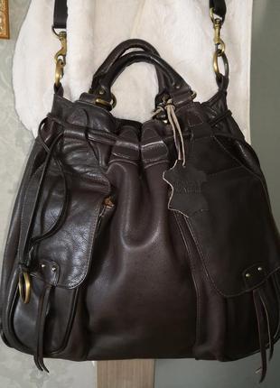 Шикарная большая кожаная сумка marta ponti. португалия!!!!