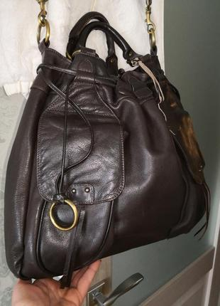 Шикарная большая кожаная сумка marta ponti. португалия!!!!2 фото