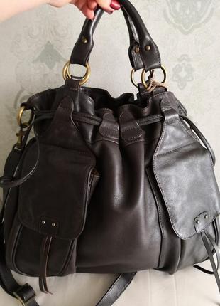 Шикарная большая кожаная сумка marta ponti. португалия!!!!3 фото