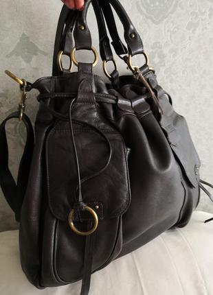 Шикарная большая кожаная сумка marta ponti. португалия!!!!4 фото