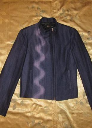 Пиджак на молнии шерстяной жакет косуха  j's exte оригинал р. m - l max mara escada италия