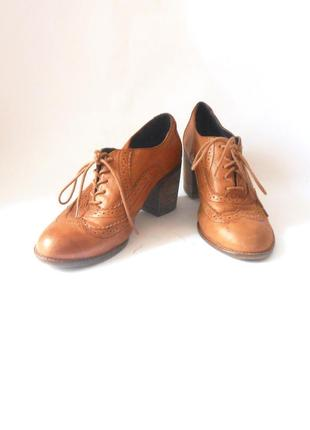 Кожаные фирменные ботинки / туфли / ботильоны clarks, р-р 42 код t4102