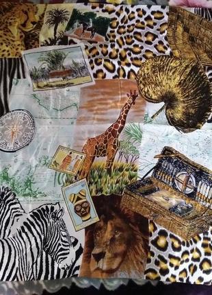 Шелковый платок африка