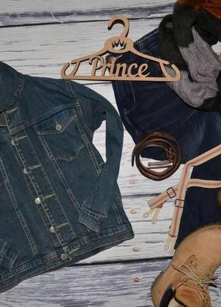 8 лет 128 см обалденный фирменный пиджак джинсовый курточка джинсовка