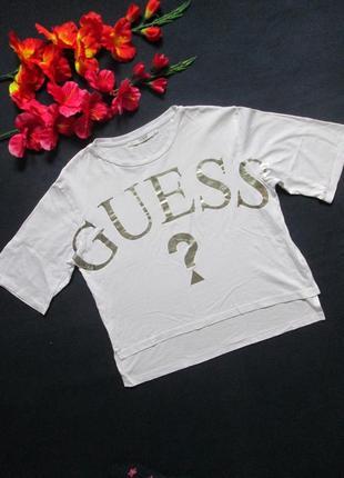 Шикарная футболка топ оверсайз американского бренда guess