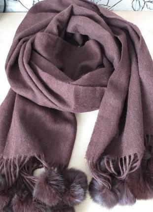 Огромный шарф-палантин