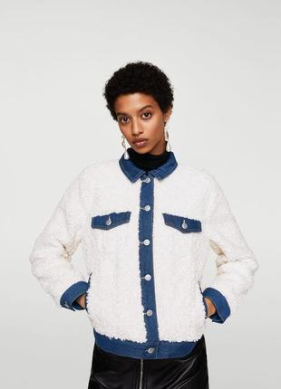 Ультра-модная лёгкая курточка mango teddy