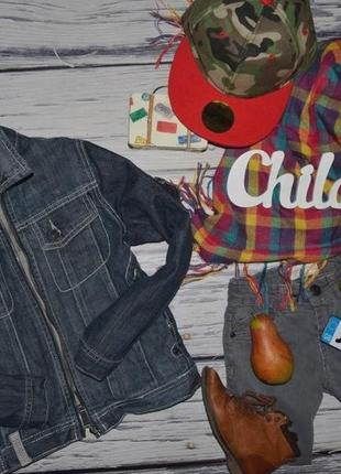 5 - 6 лет 118 см обалденный фирменный пиджак джинсовый курточка зара zara