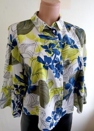 Блузка хлопок 100% zara p.m