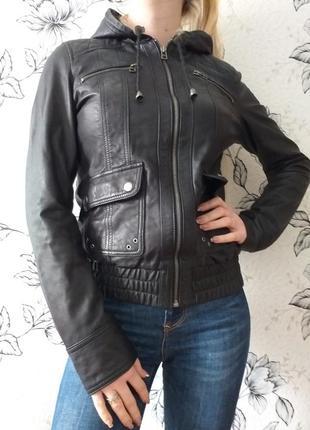 Yes or no (s) кожаная куртка с капюшоном