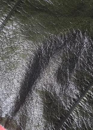 Крутая юбка под кожу с лаковым напылением от h&m5 фото