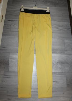 Шифоновые желтые брюки