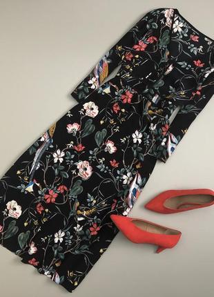 Невероятное цветочное  платье миди warehouse1 фото