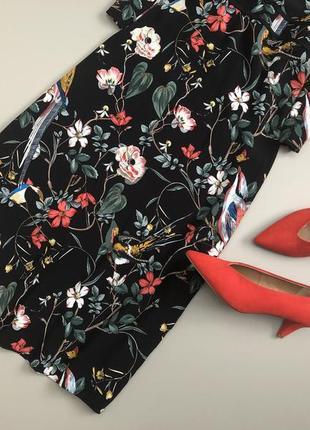 Невероятное цветочное  платье миди warehouse4 фото