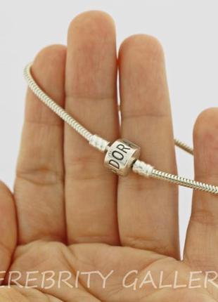 10% скидка - подписчикам! браслет серебряный в стиле пандора pandora размер 17. ch240б p4 фото