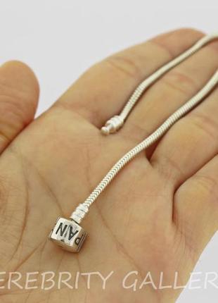 10% скидка - подписчикам! браслет серебряный в стиле пандора pandora размер 17. ch240б p3 фото