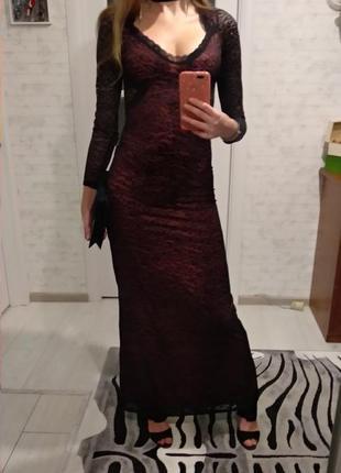 Вечернее длинное платье кружево