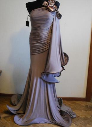 Безумно красивое вечернее выпускное платье в пол. размер 44-46