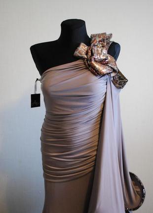 Безумно красивое вечернее выпускное платье в пол. размер 44-462 фото