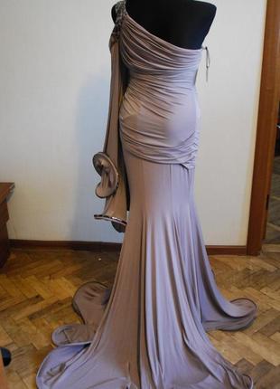 Безумно красивое вечернее выпускное платье в пол. размер 44-463 фото