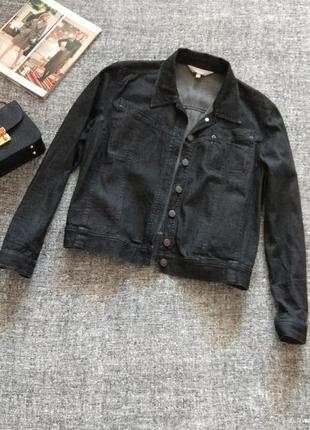Джинсовая черная куртка#оверсайз#бойфренд#размер xl