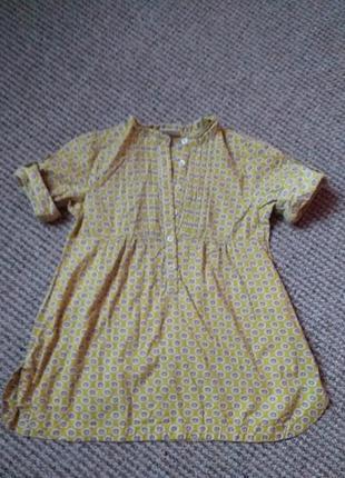 Красивая рубашечка туника сарафанчик на девочку 4/5 лет