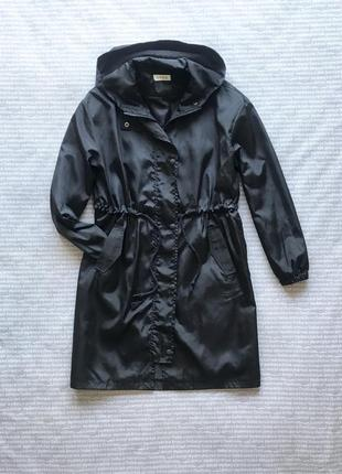 Плащ ветровка куртка дождевик черный с капюшоном купить цена