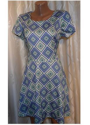 Летнее платье с оригинальным принтом, 46-48р.