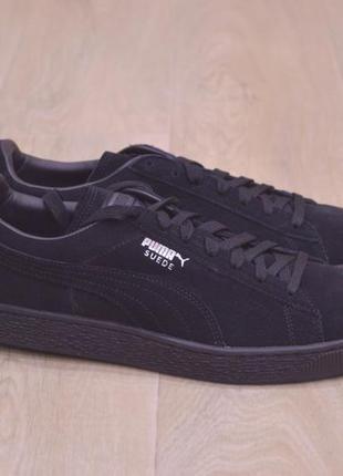 Puma suede black classic мужские кроссовки замша оригинал весна новые