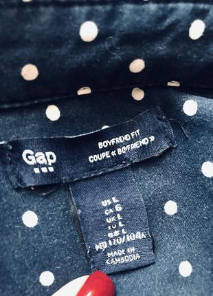 Классная котоновая рубашка в горох от gap3 фото
