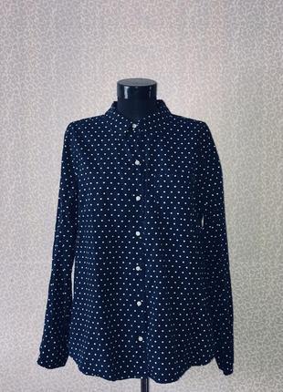 Классная котоновая рубашка в горох от gap4 фото