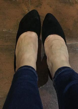 Туфли замшевые medea