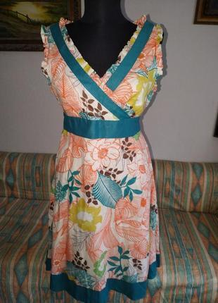 Супер батистовое яркое платье