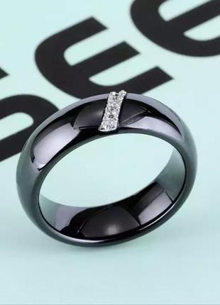 Керамическое кольцо колечко черное